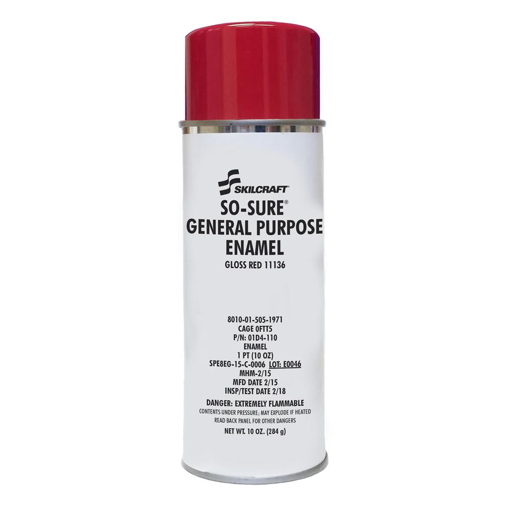 SO SURE GENERAL PURPOSE ENAMEL-GLOSS RED 11136