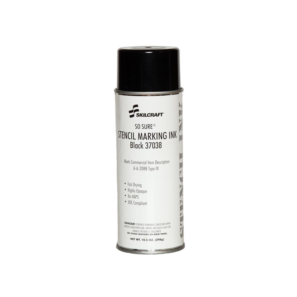 SO SURE STENCIL INK A-A-208 BLACK 37038