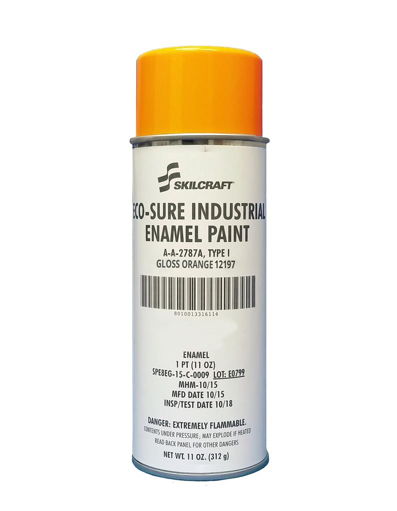 ECO SURE ENAMEL A-A-2787 GLOSS ORANGE 12197