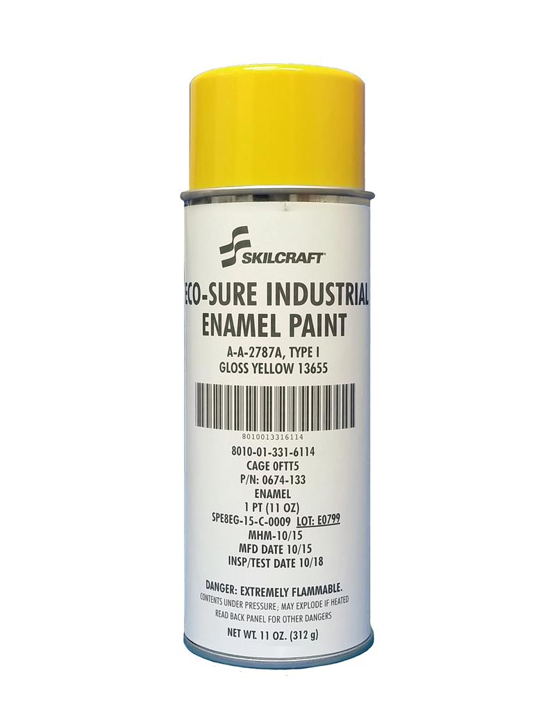ECO SURE ENAMEL A-A-2787 GLOSS YELLOW 13655