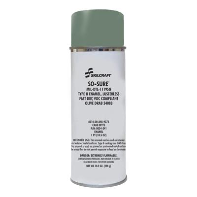 SO SURE PAINT MIL-E-11195 FLAT OLIVE DRAB 34088
