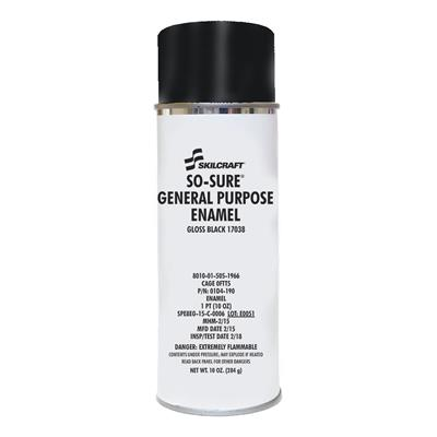 SO SURE GENERAL PURPOSE ENAMEL-GLOSS BLACK 17038