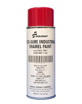 ECO SURE ENAMEL A-A-2787 GLOSS RED 11136