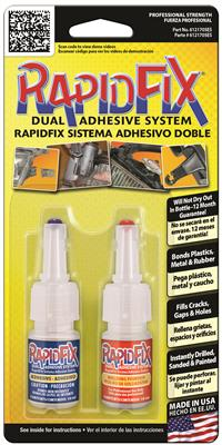 RapidFix Automotive Dual Adhesive System, 10ml